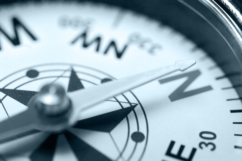 International legal matters - represented by a compass